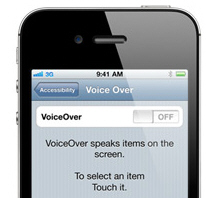 screen shot of VoiceOver