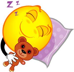 cartoon image depicting restful sleep