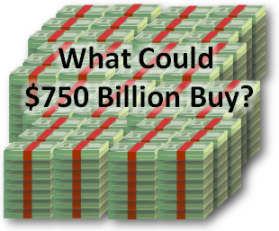 What could $750 billion buy?