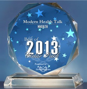 Modern Health Talk won a Best in Business award from the City of Cedar Park.