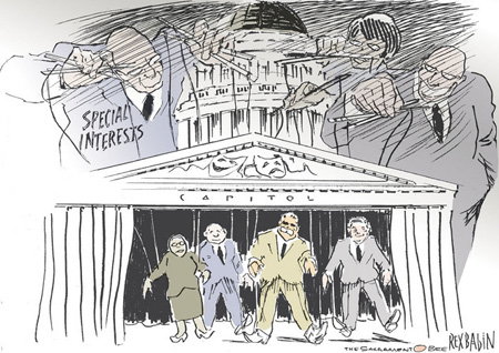 Special Interests Pull Puppet Strings